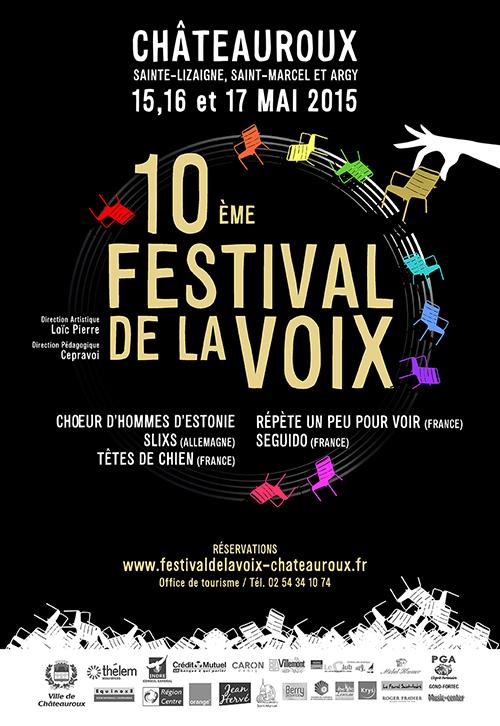 Affiche festival de la voix Châteauroux